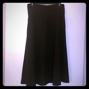 Slant pocket circle black skirt